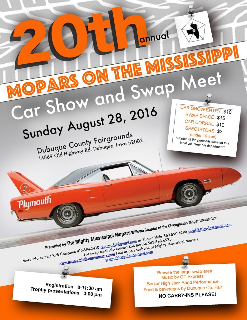 2016 car show flier front Willowa